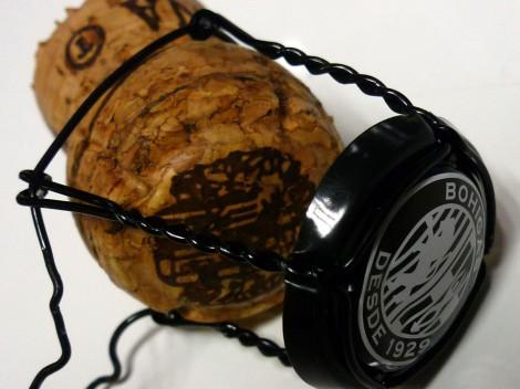 Detalle del tapón de corcho del cava Bohigas Brut Rosado.
