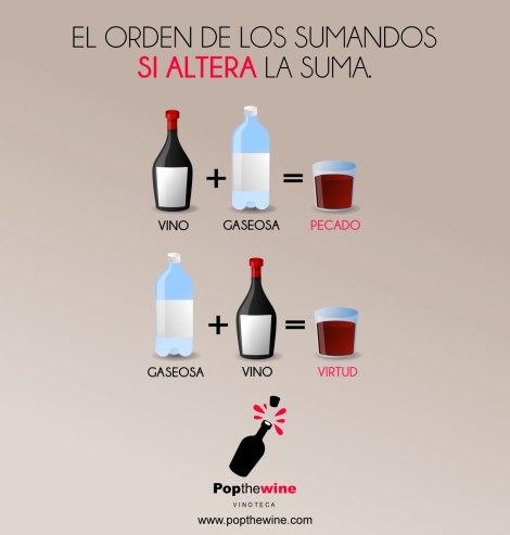 ¿Vino con gaseosa o gaseosa con vino?.