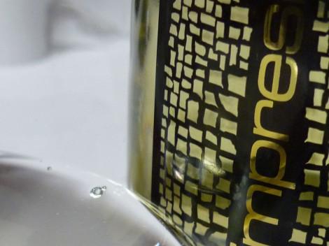 Detalle del vino Impresiones Verdejo en la copa.