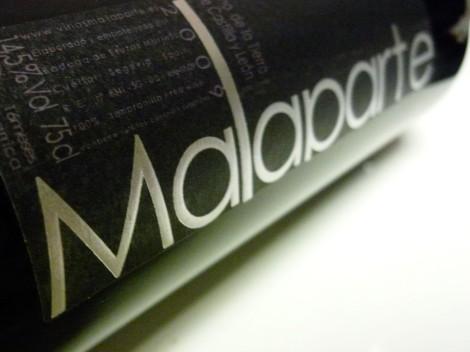 La botella del vino Malaparte 2009.