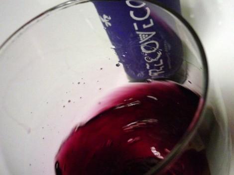 Tonalidades de color del vino Recoveco Maceración Carbónica.