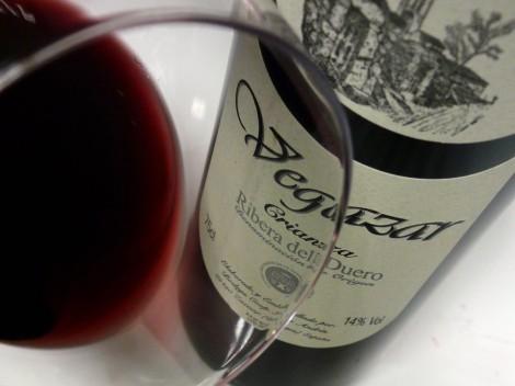 El vino Vegazar Crianza en la copa.