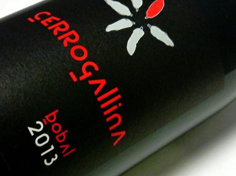 Etiquetado del vino Cerrogallina 2013