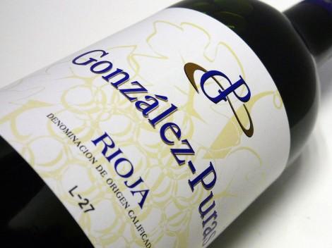 Etiquetado del vino González Puras Maceración Carbónica.