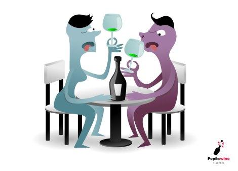 Comprobando el vino