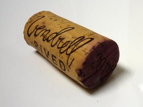 Detalle del tapón de corcho del vino Serè de Vendrell Rived.