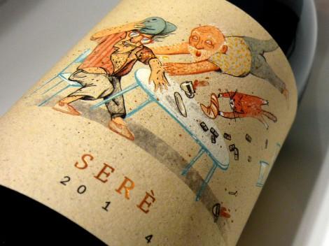 Etiquetado del vino Serè de Vendrell Rived.