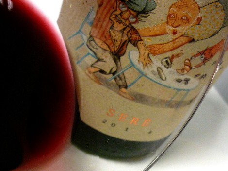 Detalle del ribete del vino Serè de Vendrell Rived.