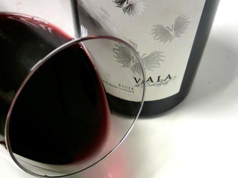 Ribete del vino Vala de Solabal 2010.