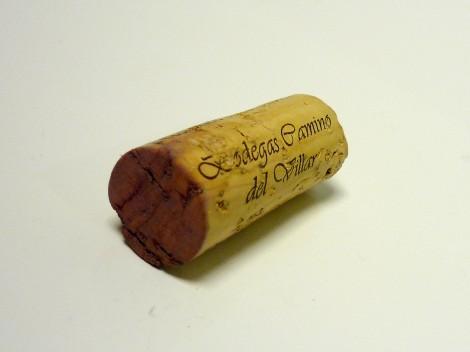 Tapón de corcho del vino Aliaga Colección Privada 2012.