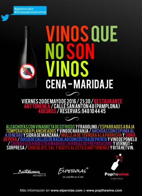 """Cartel de la actividad """"Vinos que no son vinos""""."""