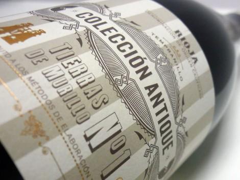 Etiquetada del vino Colección Antique Nº1.
