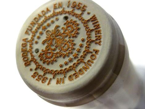 Detalle de la cápsula del vino Colección Antique Nº1.