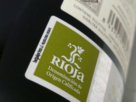 Sello de la D.O.Ca. Rioja en la botella de Colección Antique Nº1.