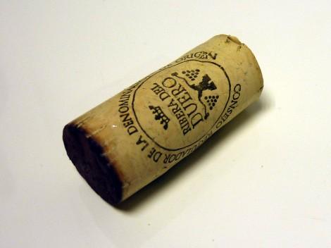 Detalle del tapón de corcho del vino Vegazar Tinto Roble.