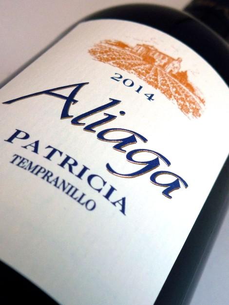 Etiquetado del vino Aliaga Patricia 2014.