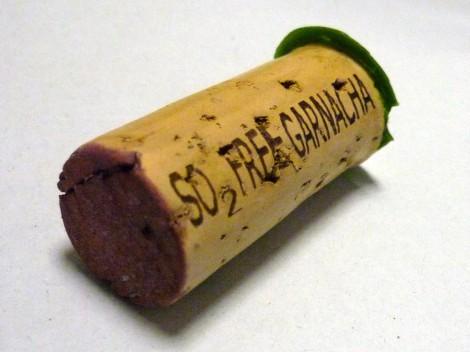 Detalle del corcho del vino Amice Masatrigos Garnacha.