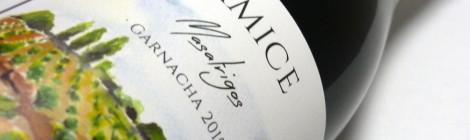 La etiqueta de Amice Masatrigos Garnacha.