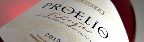 Etiqueta de Proelio Rosado Graciano.