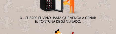 Infografia de humor sobre el vino.