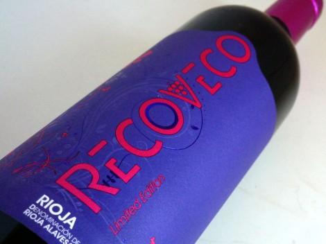 El etiquetado del vino Recoveco Edición Limitada 2014.