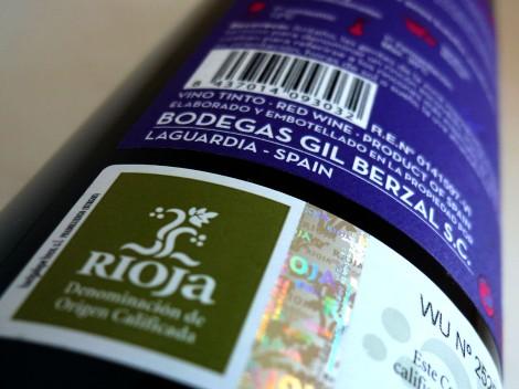 Sello de la D.O.Ca. Rioja en la botella de Recoveco Edición Limitada.