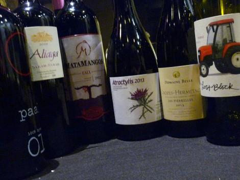 Los 6 vinos de la cena Syrah con Pizza.