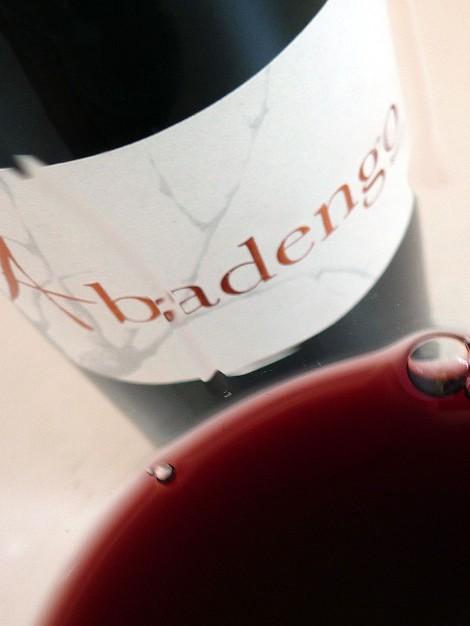 Detalle del vino Abadengo Reserva en la copa.
