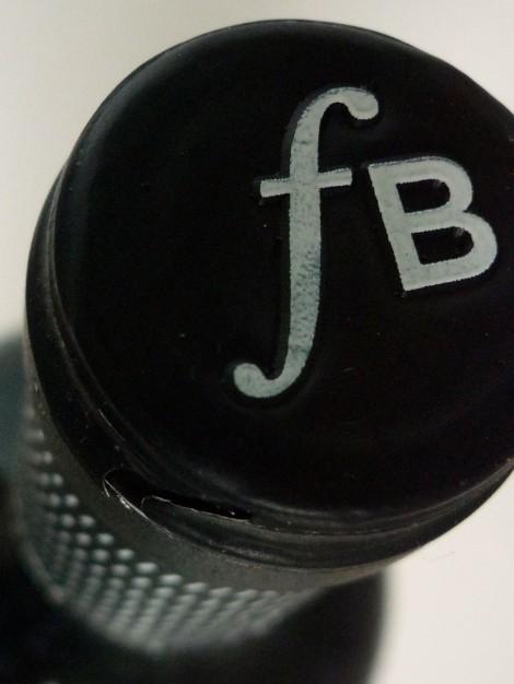 Detalle de la cápsula del vino Fermí Bohigas.