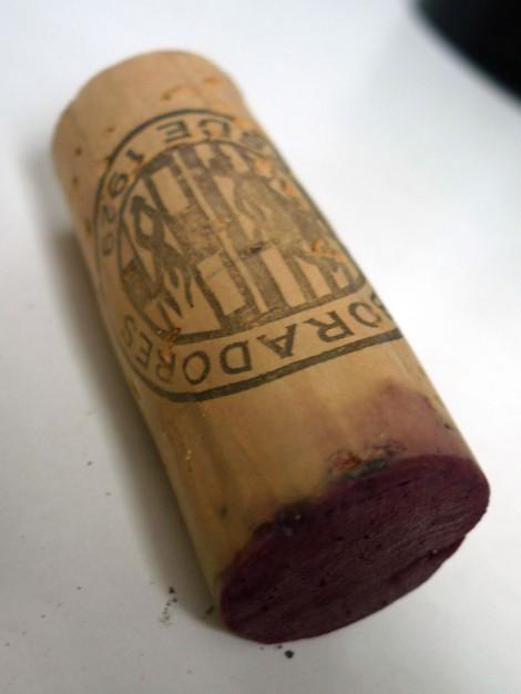 El tapón de corcho del vino Fermí de Bohigas.
