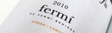 El etiquetado del vino Fermí de Bohigas.