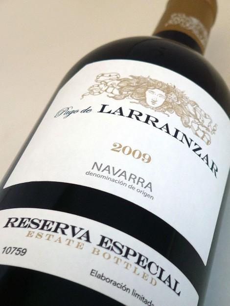 Etiquetado de Pago de Larrainzar Reserva Especial 2009.