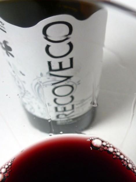 Detalle de la lágrima del vino.