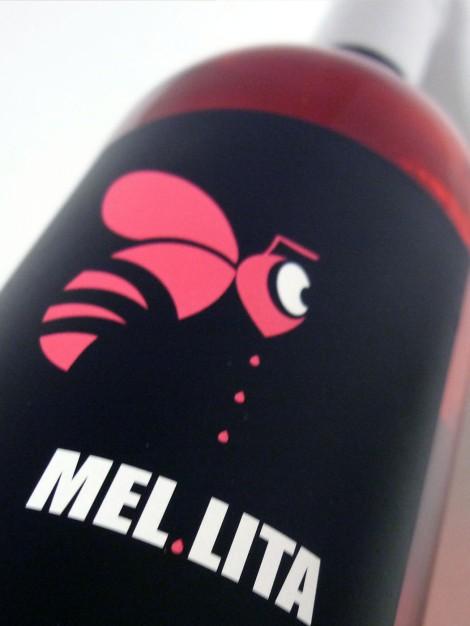 Etiqueta del vino Mel Lita Rosado 2015.