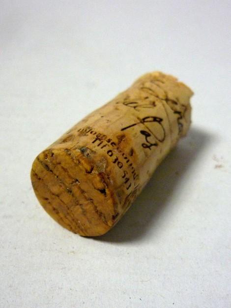 Tapón de corcho del vino Señorío del Pas.