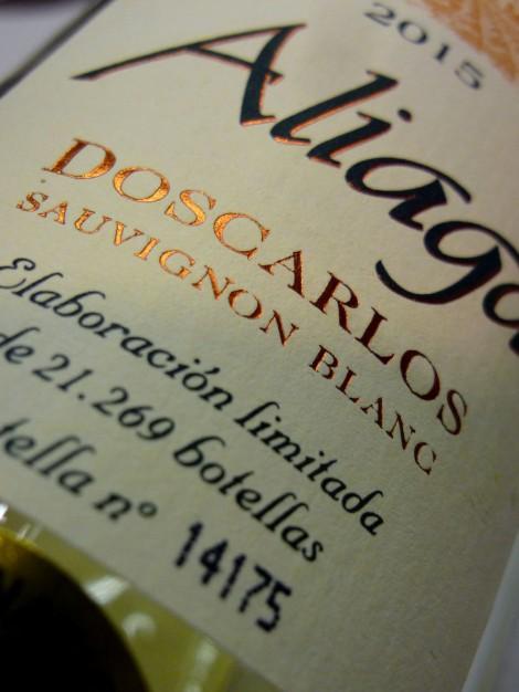 Aliaga Doscarlos Sauvignon Blanc.