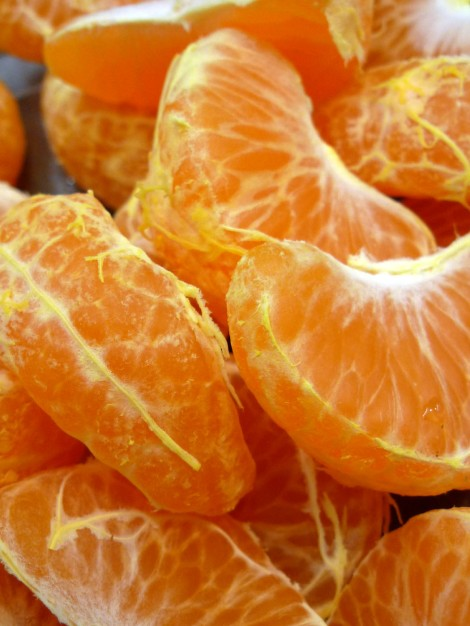 Gajos de mandarina.