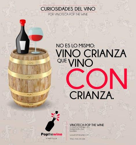 Un vino crianza no es lo mismo que un vino con crianza.