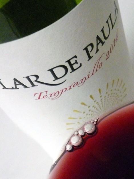 El color del vino Lar de Paula Madurado en Bodega.