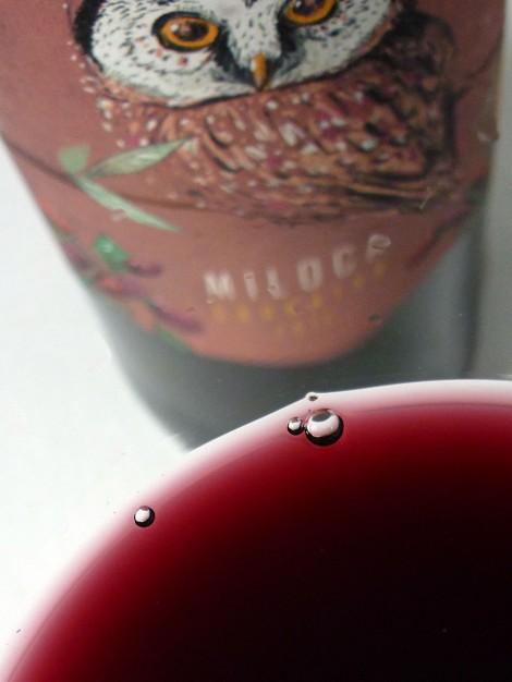 El color del vino Miloca Garnatxa.