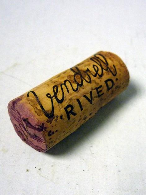 Detalle del tapón de corcho del vino Miloca Garnatxa.
