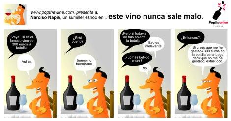 Narciso Napia Tira Cómica sobre el vino.