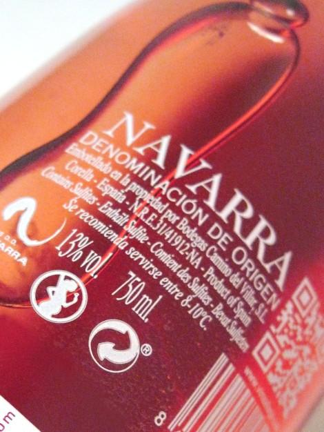 Contra etiqueta del vino Aliaga Lágrima de Luna.