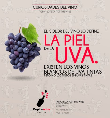 El color del vino.