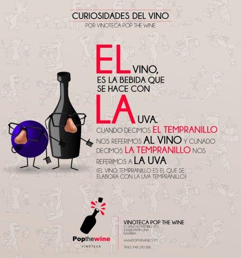 El vino es la bebida que se hace con la uva.