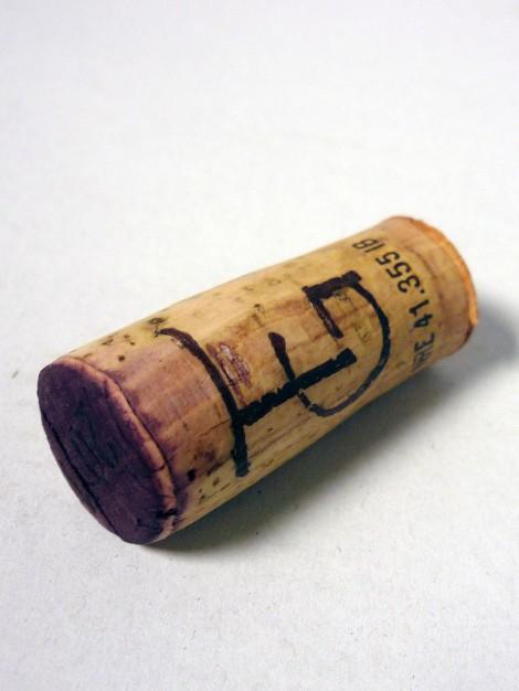 Tapón de corcho del vino Equilibri.