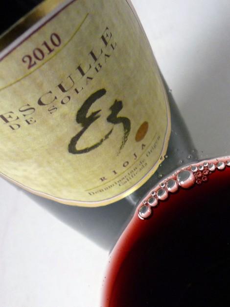 El color del vino de Esculle de Solabal.