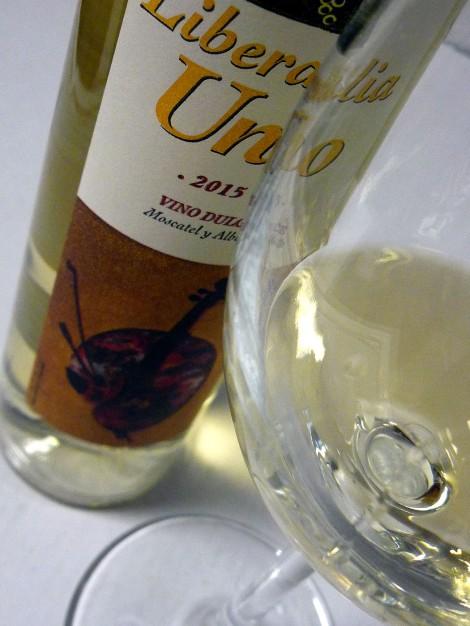 El vino Liberalia Uno tras la copa.