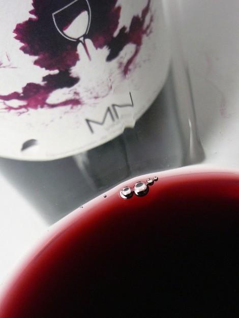 MN Ribera del Duero en la copa mostrando su color.