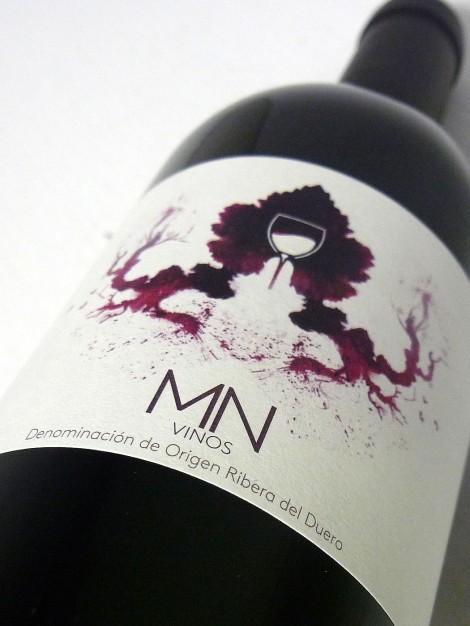 La etiqueta del vino MN Ribera del Duero.